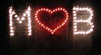 Lichterwerk Feuerwerk Stuttgart Feuerwerk zur Hochzeit Lichterbild mit Herz