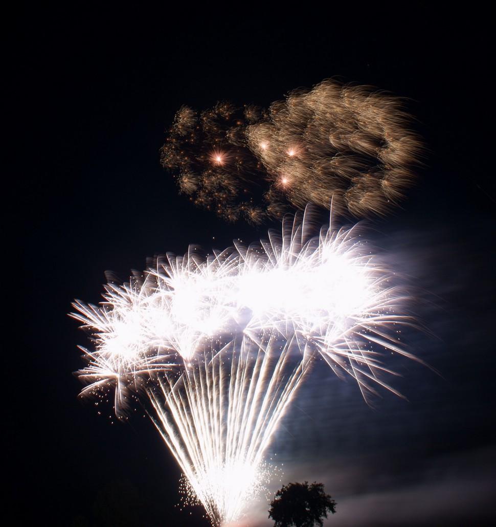 Lichterwerk Feuerwerk Stuttgart Großfeuerwerk zum Geburtstag in Pliezhausen Silber Palmenwald Kugelbombe Crackling