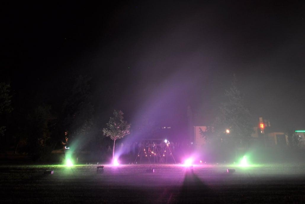 Leises Barock Feuerwerk, Bengalisches in Feuer Grün Violett