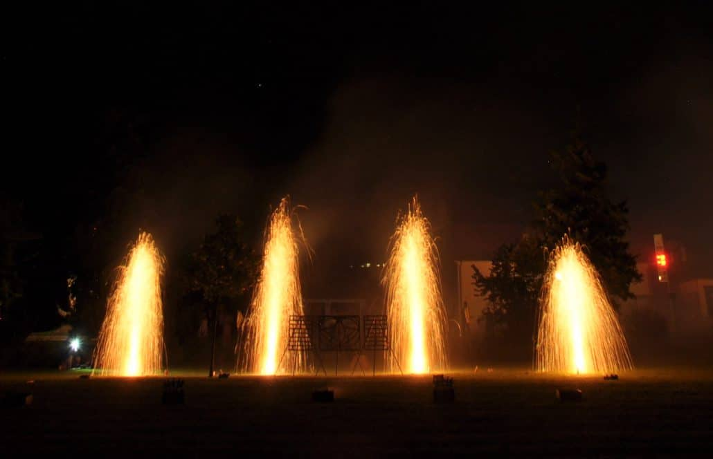 Leises Barock Feuerwerk, Goldfontänen